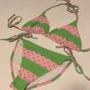 Adorable Lilly Pulitzer Watermelon Style Bikini
